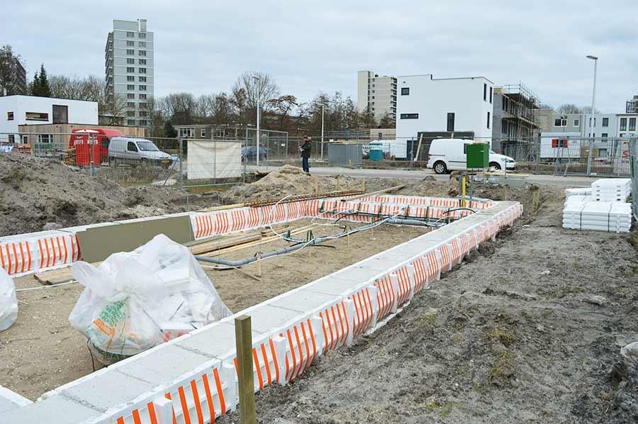 Zelfbouw Isabellaland Den Haag Fundering gereed