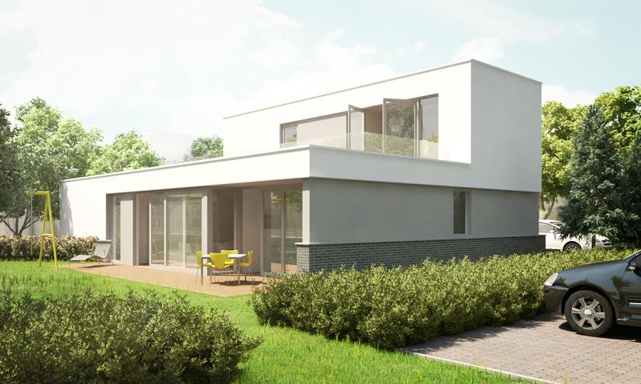 Zelfbouw vrijstaande villa erasmushove den haag - Zeer moderne woning ...