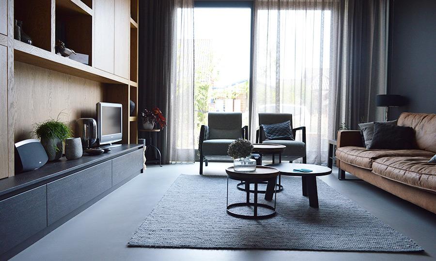 Zelfbouw woning Boomaweg Den Haag - zithoek woonkamer