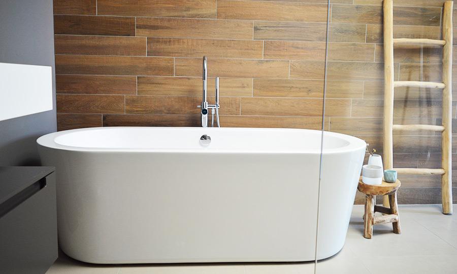 Zelfbouw woning Boomaweg Den Haag - badkamer vrijstaand bad