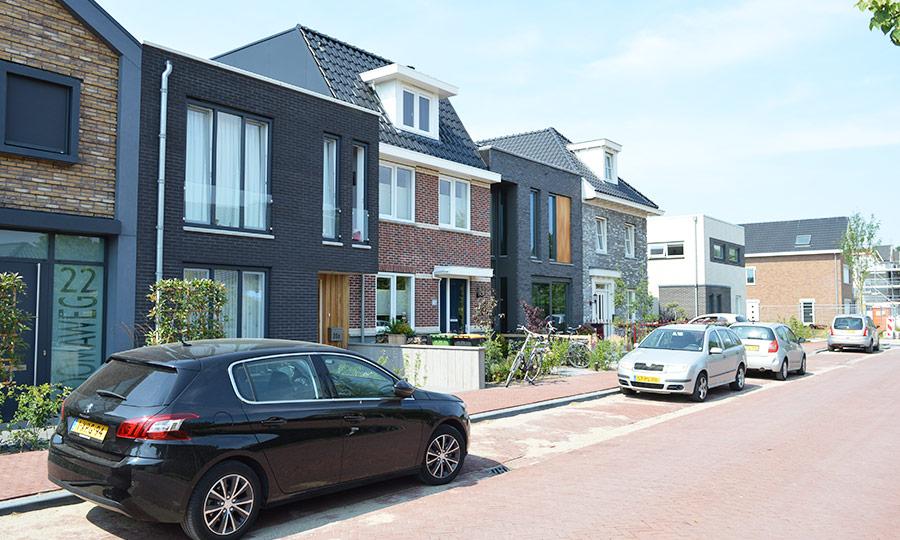 Zelfbouw woning Boomaweg Den Haag - voorgevel straat