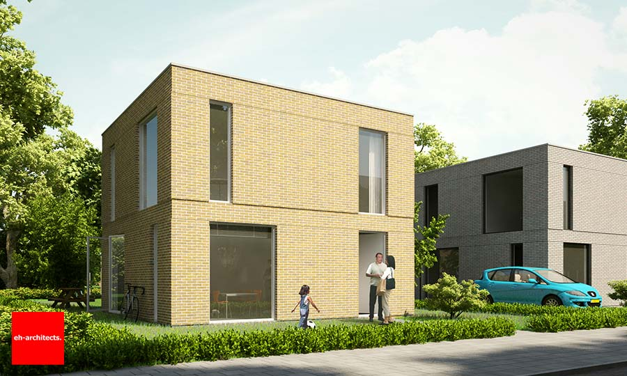 Amazing vrijstaande woning almere poort kavel hkw baksteen for Prijzen nieuwbouw vrijstaande woning