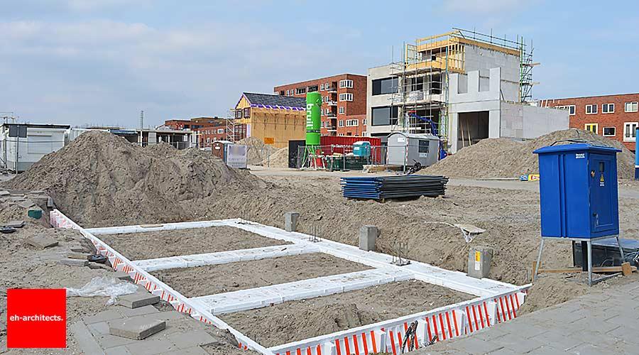 Zelfbouw kavels Blok 59 IJburg Amsterdam funderingen