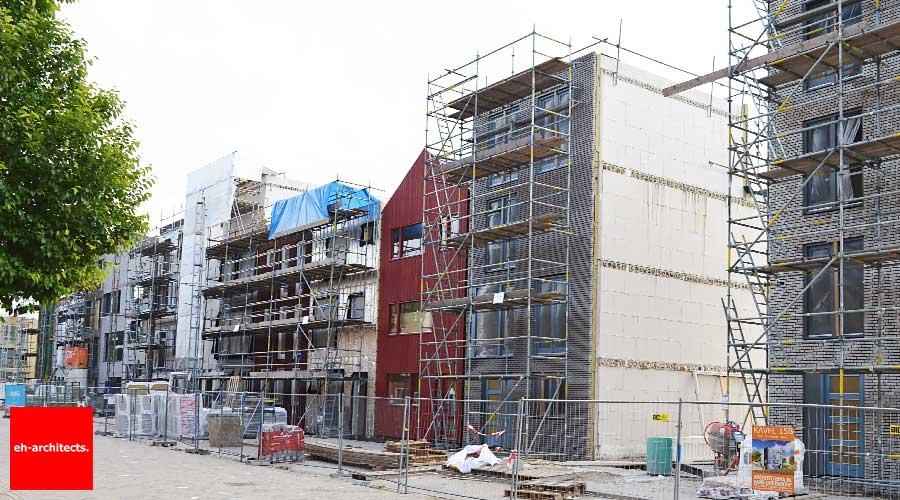 Zelfbouw Blok59 IJburg Amsterdam - hoogste punt