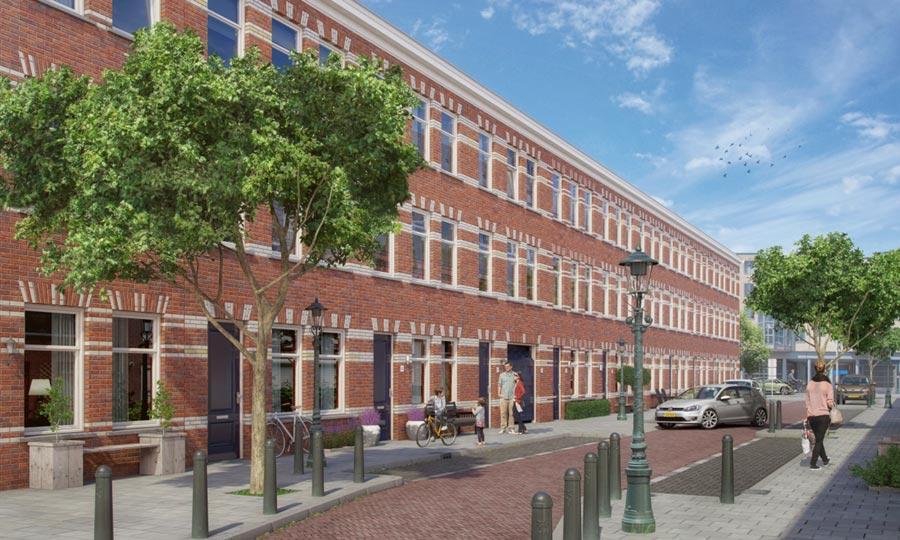 Nieuwbouw 13 herenhuizen crispijnstraat den haag eh for Nieuwbouw den haag