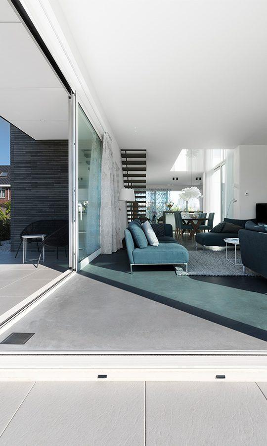 Interieur vrijstaande woning zelfbouw kavel Villapark Uithofslaan Den Haag